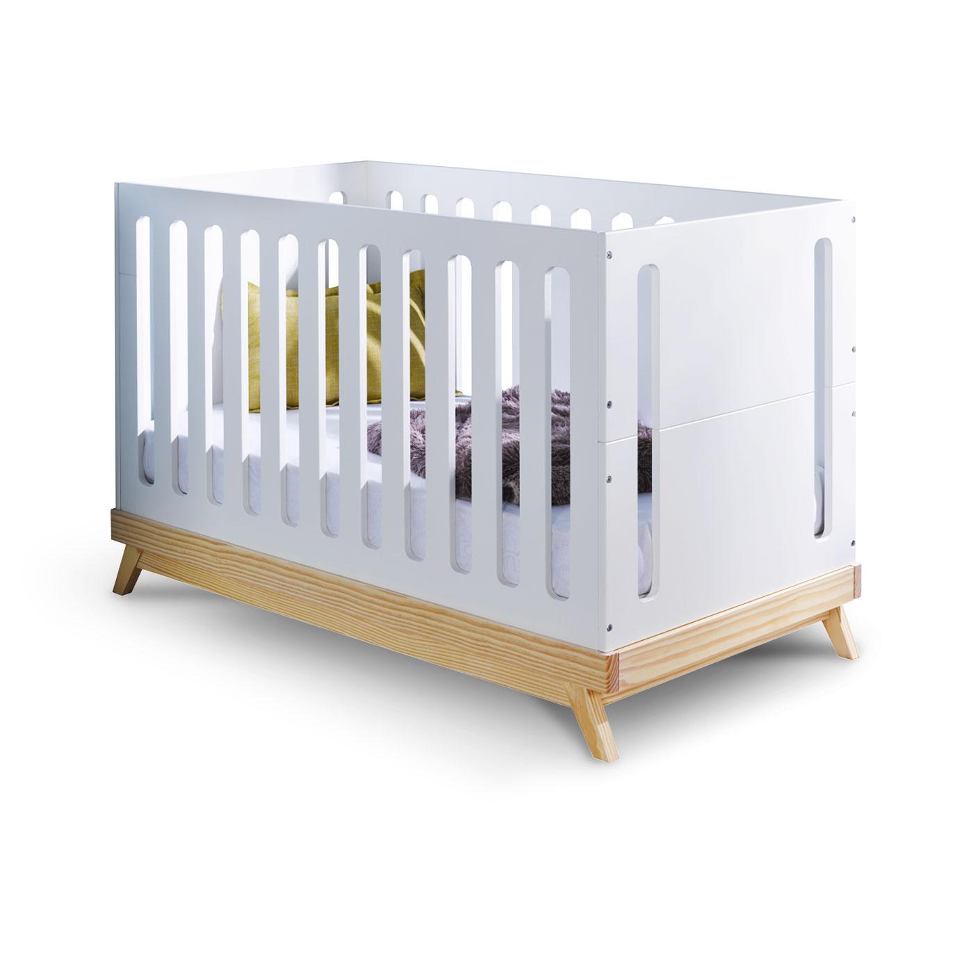 lit bebe evolutif blanc et bois id es de tricot gratuit. Black Bedroom Furniture Sets. Home Design Ideas