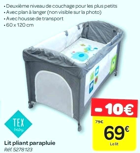 Lit Parapluie Carrefour Pour Bébé Idées De Tricot Gratuit