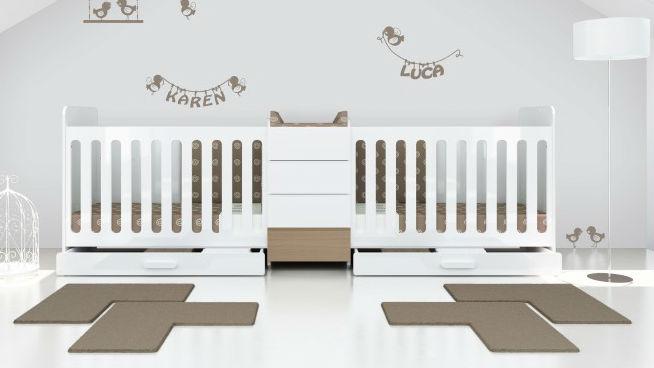 Photo chambre bebe jumeaux - Idées de tricot gratuit