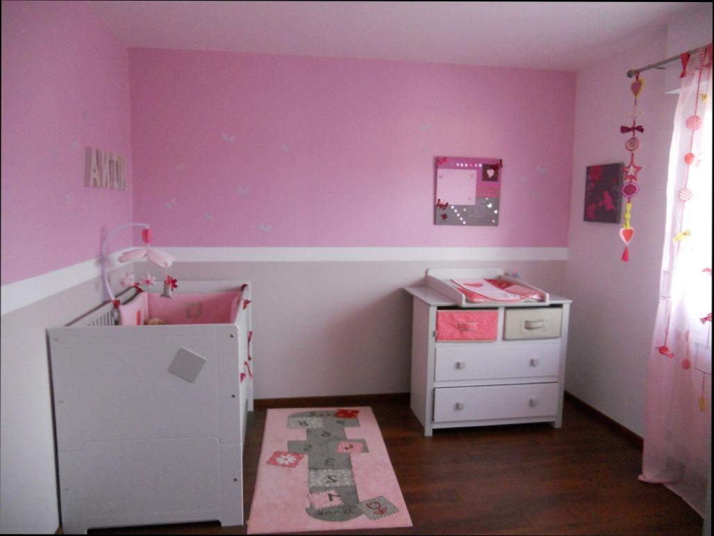 modele peinture chambre bebe fille