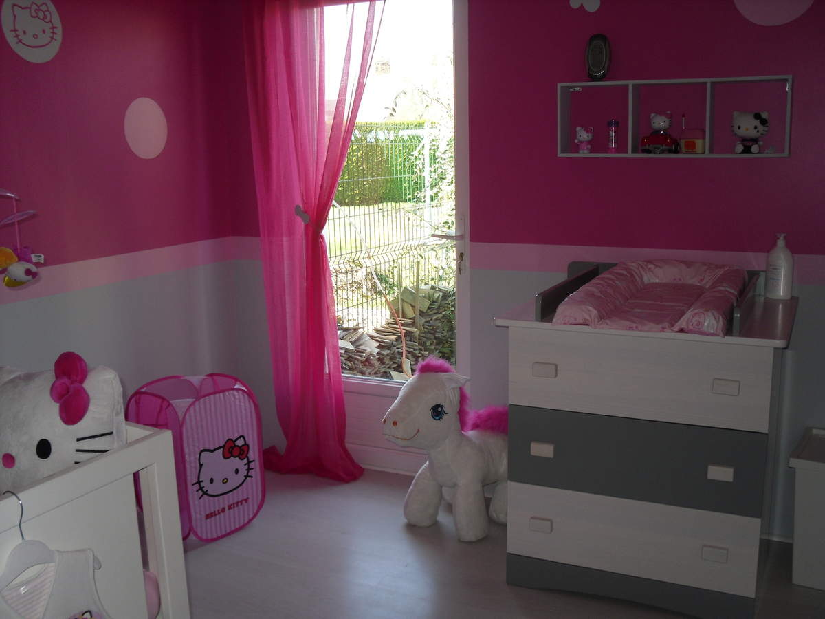 Decoration chambre petite fille hello kitty id es de - Decoration hello kitty chambre bebe ...