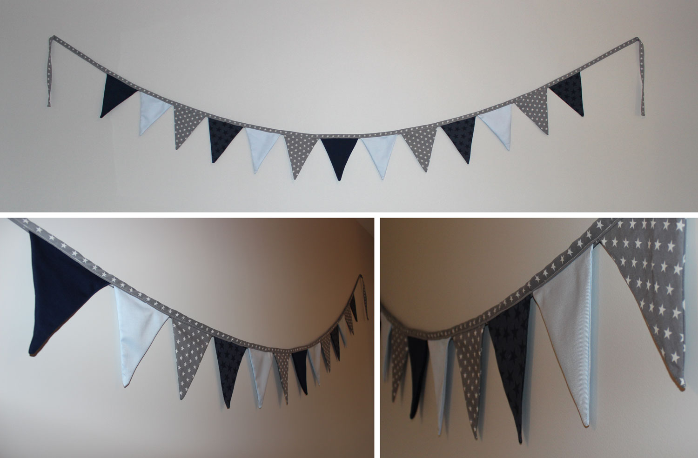 Guirlande triangle chambre bebe - Idées de tricot gratuit