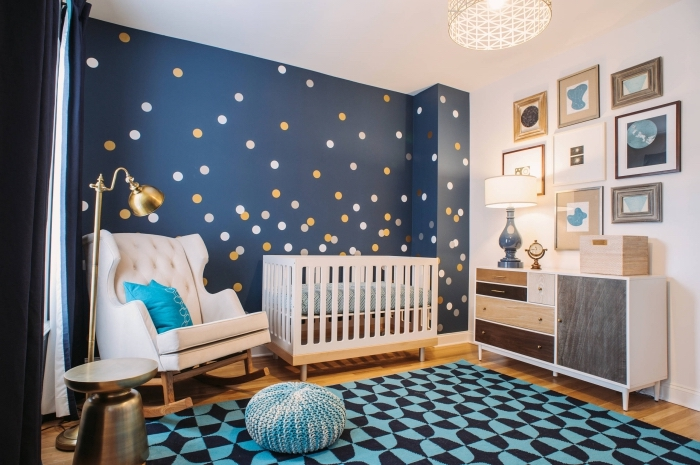 Chambre bebe garcon marron et bleu - Idées de tricot gratuit