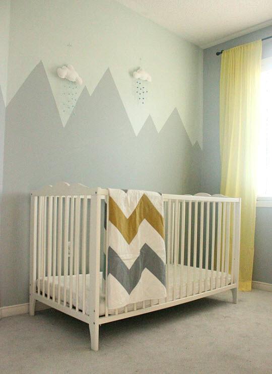 Lit bébé style montagne - Idées de tricot gratuit