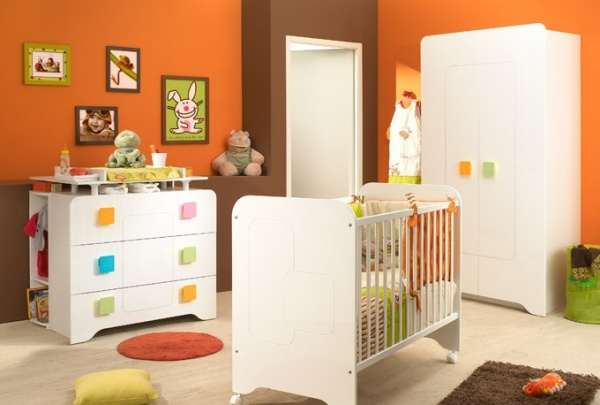 Awesome Chambre Bebe Orange Et Marron Pictures - House Design ...