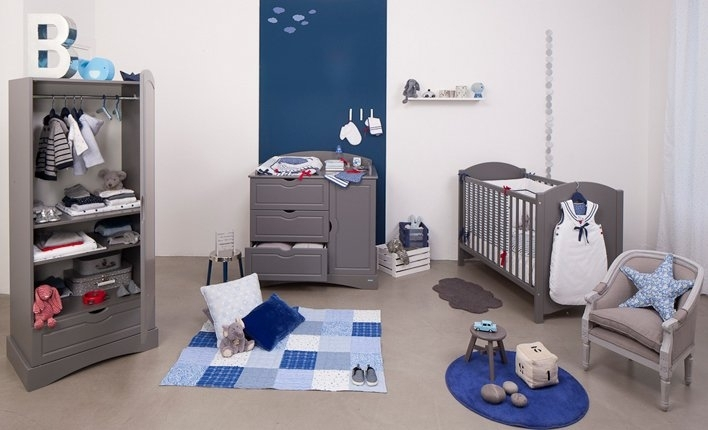 Chambre bebe meubles gris