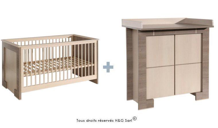 Lit bebe et meuble a langer