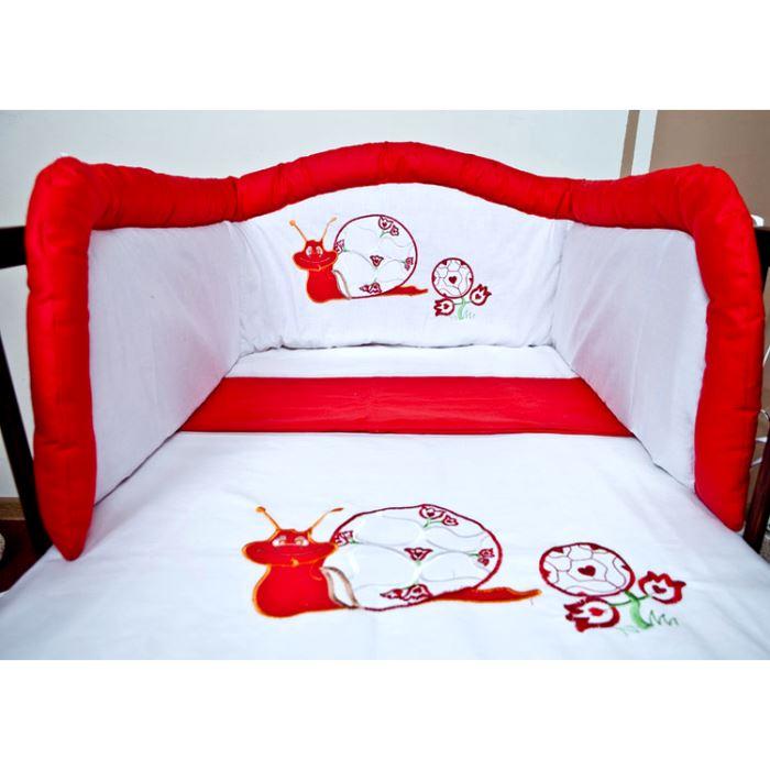 Tour de lit bébé rouge et blanc - Idées de tricot gratuit
