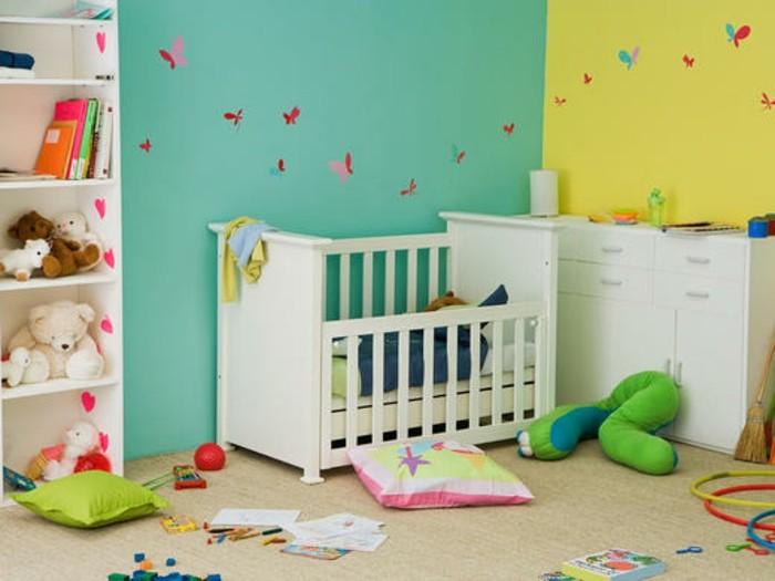 Peinture chambre bébé bleu et vert - Idées de tricot gratuit