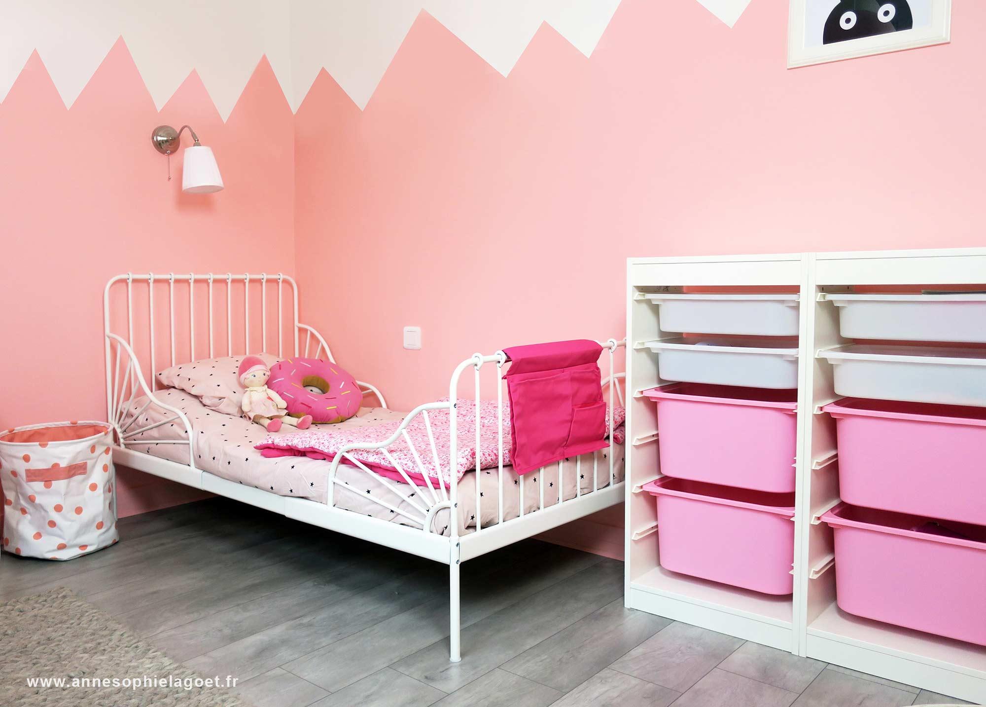 deco chambre bebe fille rose et blanc