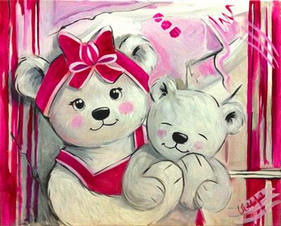Tableau peinture pour chambre b b fille id es de tricot gratuit - Peinture pour chambre bebe fille ...