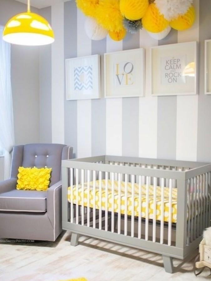 Peinture chambre bébé jaune - Idées de tricot gratuit