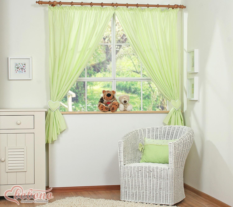 Rideau chambre bébé vert
