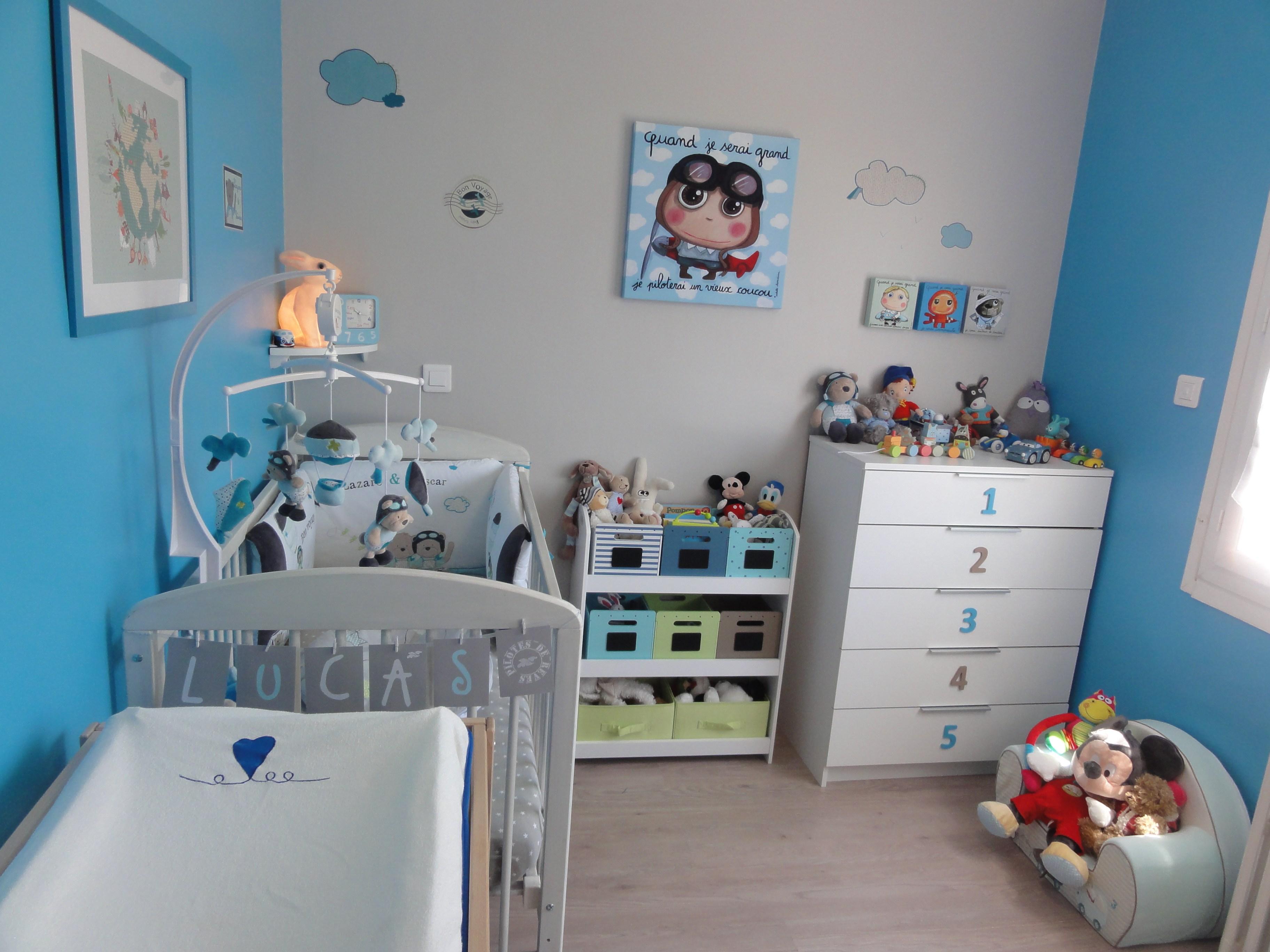 Idée couleur peinture chambre bébé garçon - Idées de tricot ...