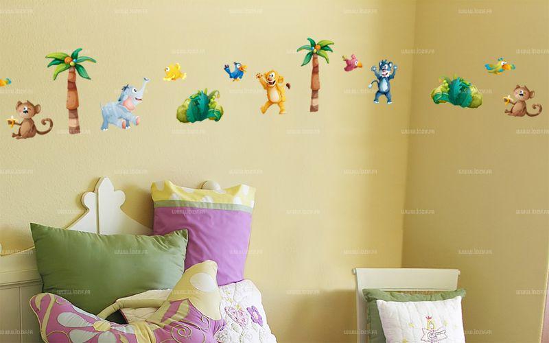 decoration chambre bebe animaux jungle id es de tricot. Black Bedroom Furniture Sets. Home Design Ideas