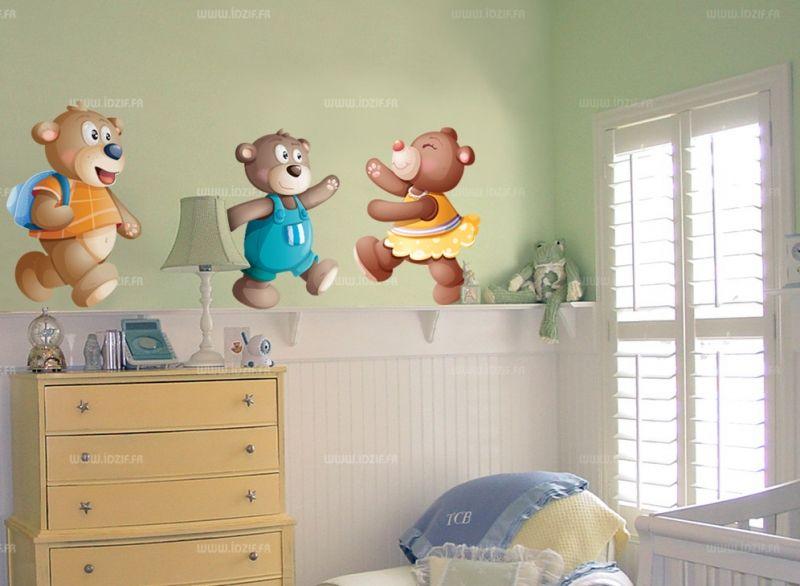 Décoration chambre bébé garçon ourson