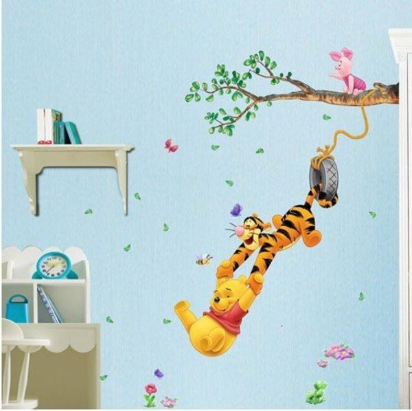 Stickers winnie l 39 ourson lit bebe id es de tricot gratuit - Chambre winnie l ourson pas cher ...