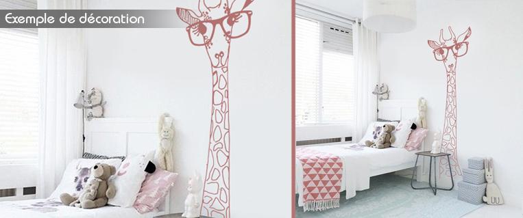 Chambre bébé fille girafe