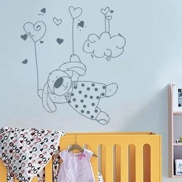 Stickers chambre bébé lapin