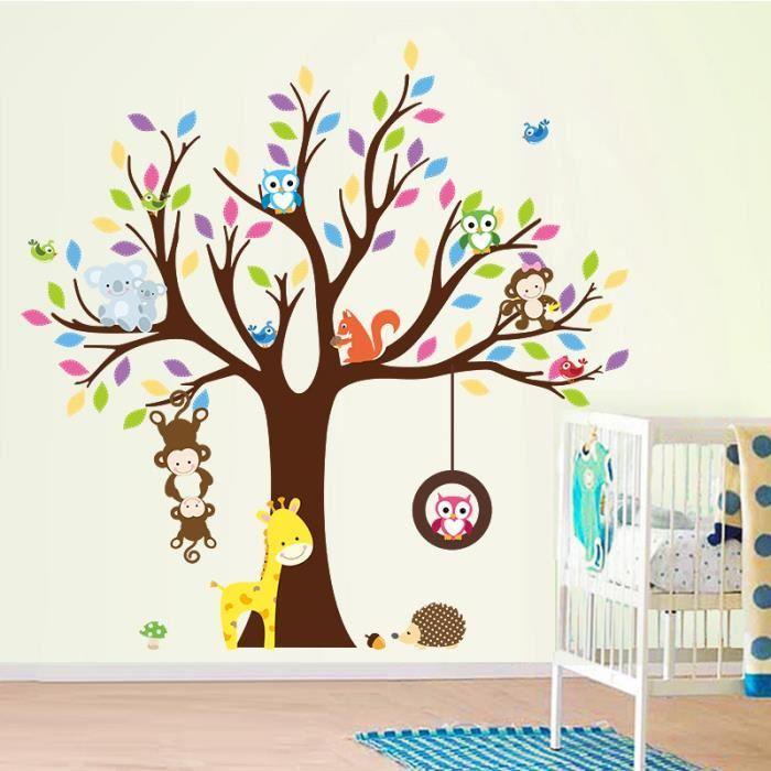 Stickers chambre bébé arbre hibou - Idées de tricot gratuit