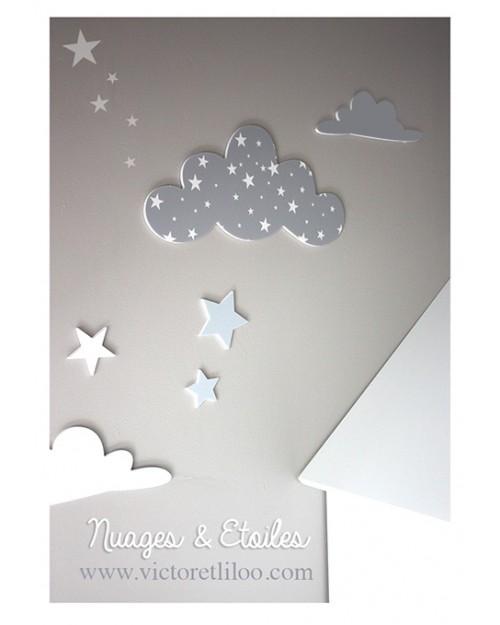 Stickers chambre bébé nuage - Idées de tricot gratuit