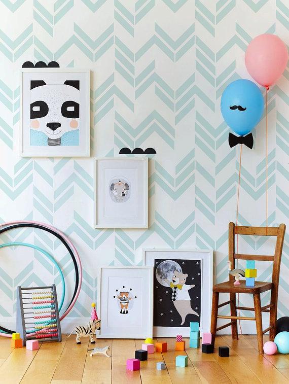 Beau Papier Peint Chambre Bébé Jungle