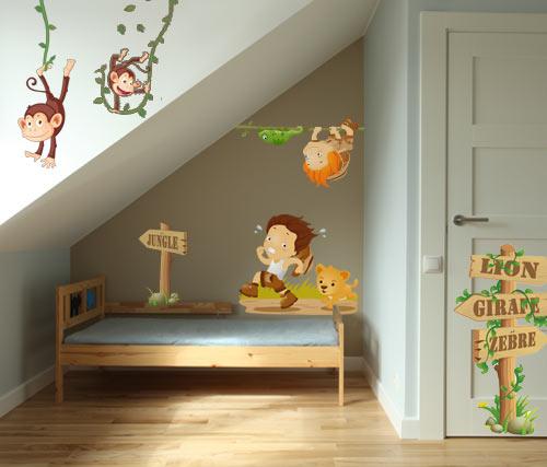 Stickers chambre bébé animaux jungle - Idées de tricot gratuit