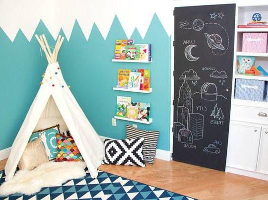 Peinture chambre bébé montagne - Idées de tricot gratuit