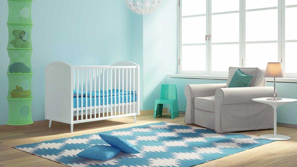 Tapis chambre bébé bleu marine - Idées de tricot gratuit