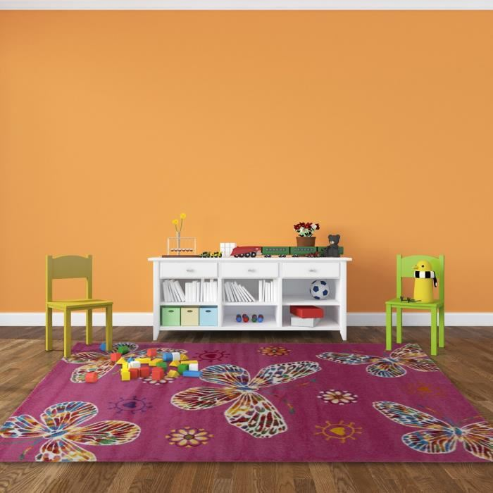 Tapis chambre bebe orange