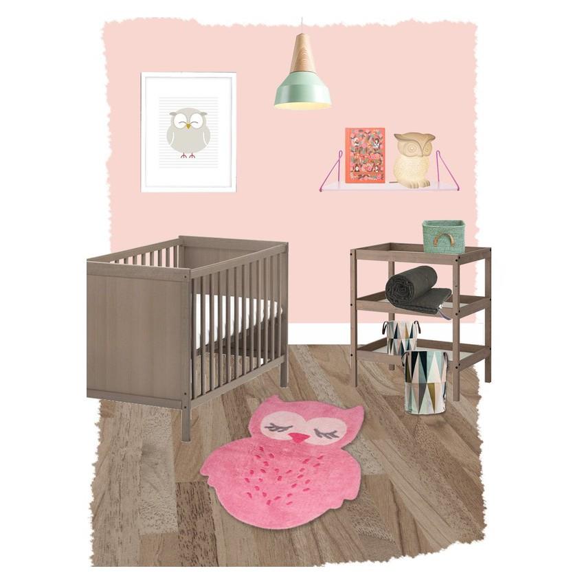 Tapis chambre bébé hibou