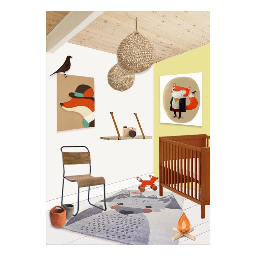 Tableau chambre bébé renard