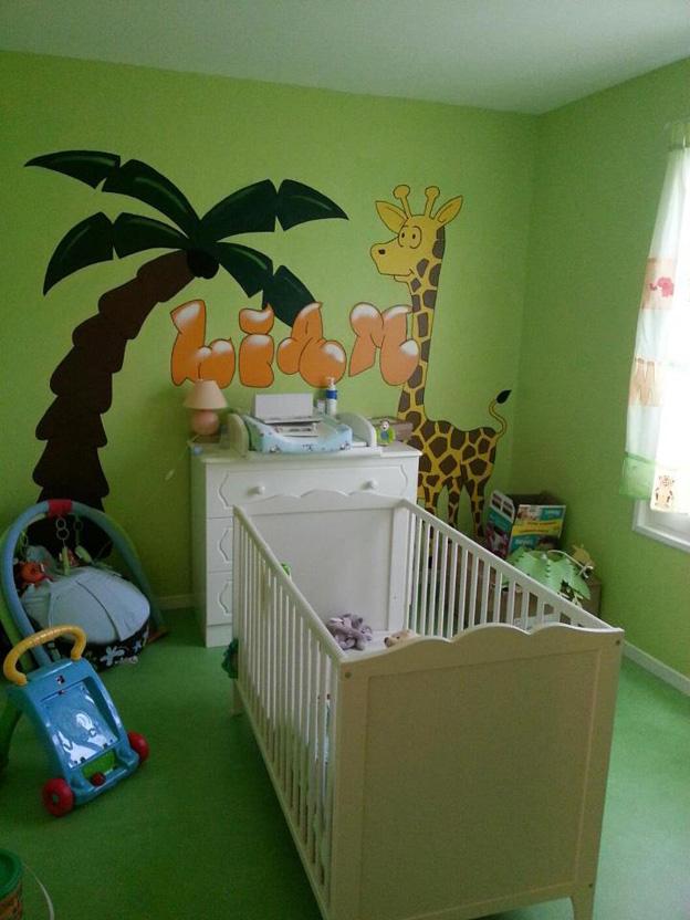 Chambre de bébé jungle - Idées de tricot gratuit