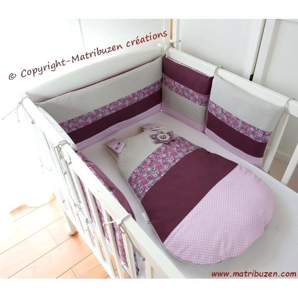 Tour de lit bébé fille rose et taupe - Idées de tricot gratuit
